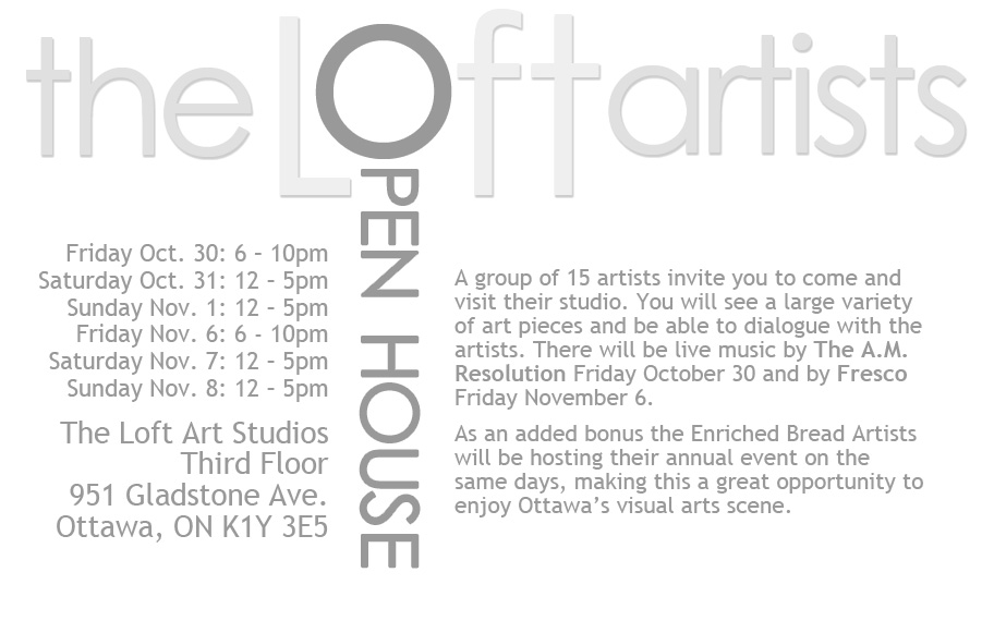 The Loft Artists Open House Invitation