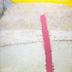 Sun Leg, 35 x 35 inch, acrylic on canvas, 2001