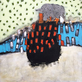 Up Sail, 47 x 47 inch, acrylic on canvas, 2015